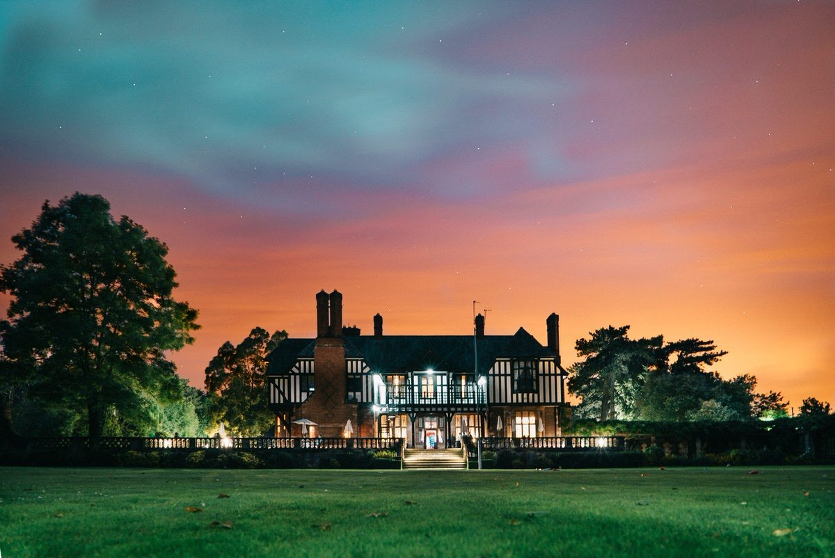 Chester Wedding Photographer Inglewood Manor at Night