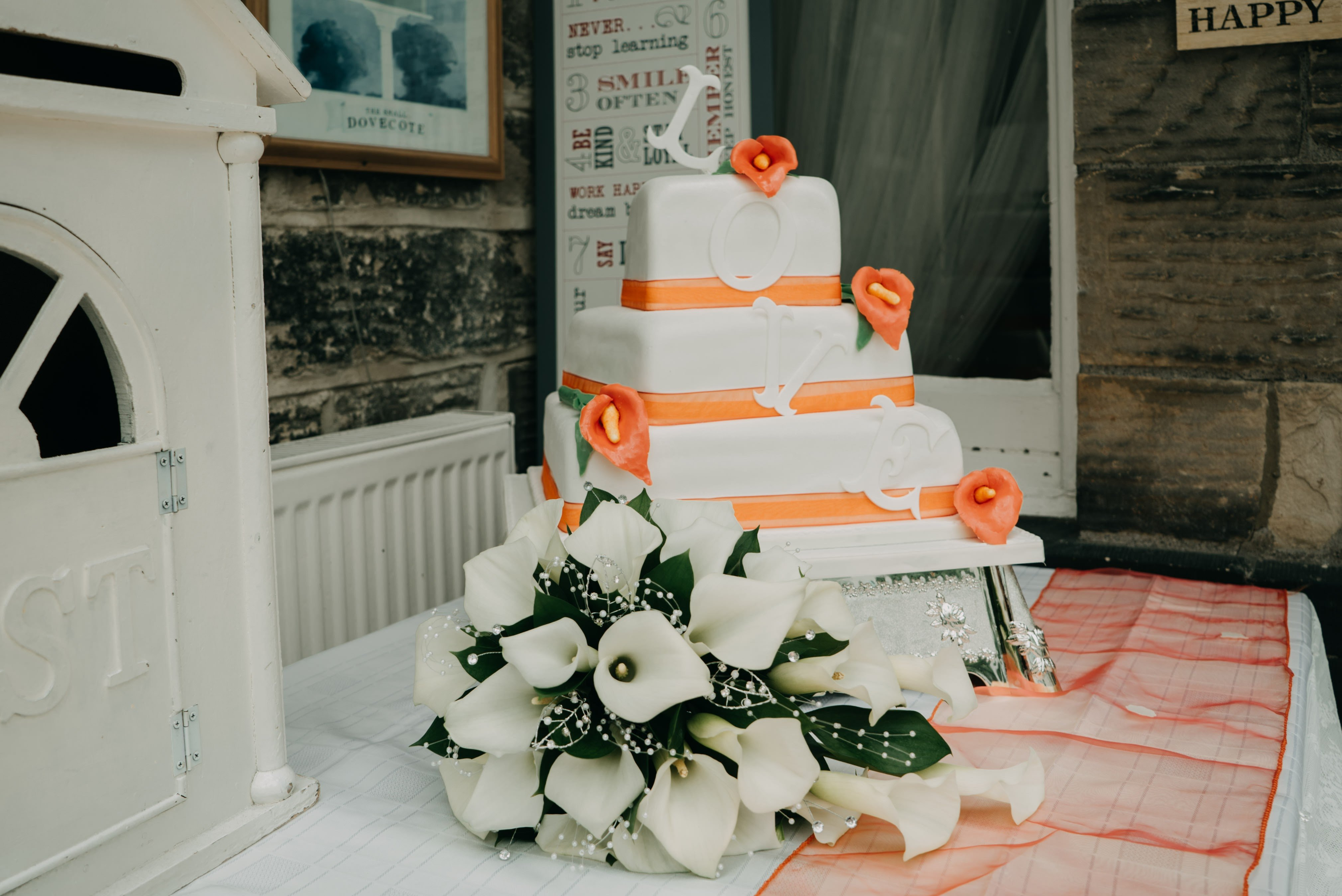 Wedding Cake at Dimple Well Lodge