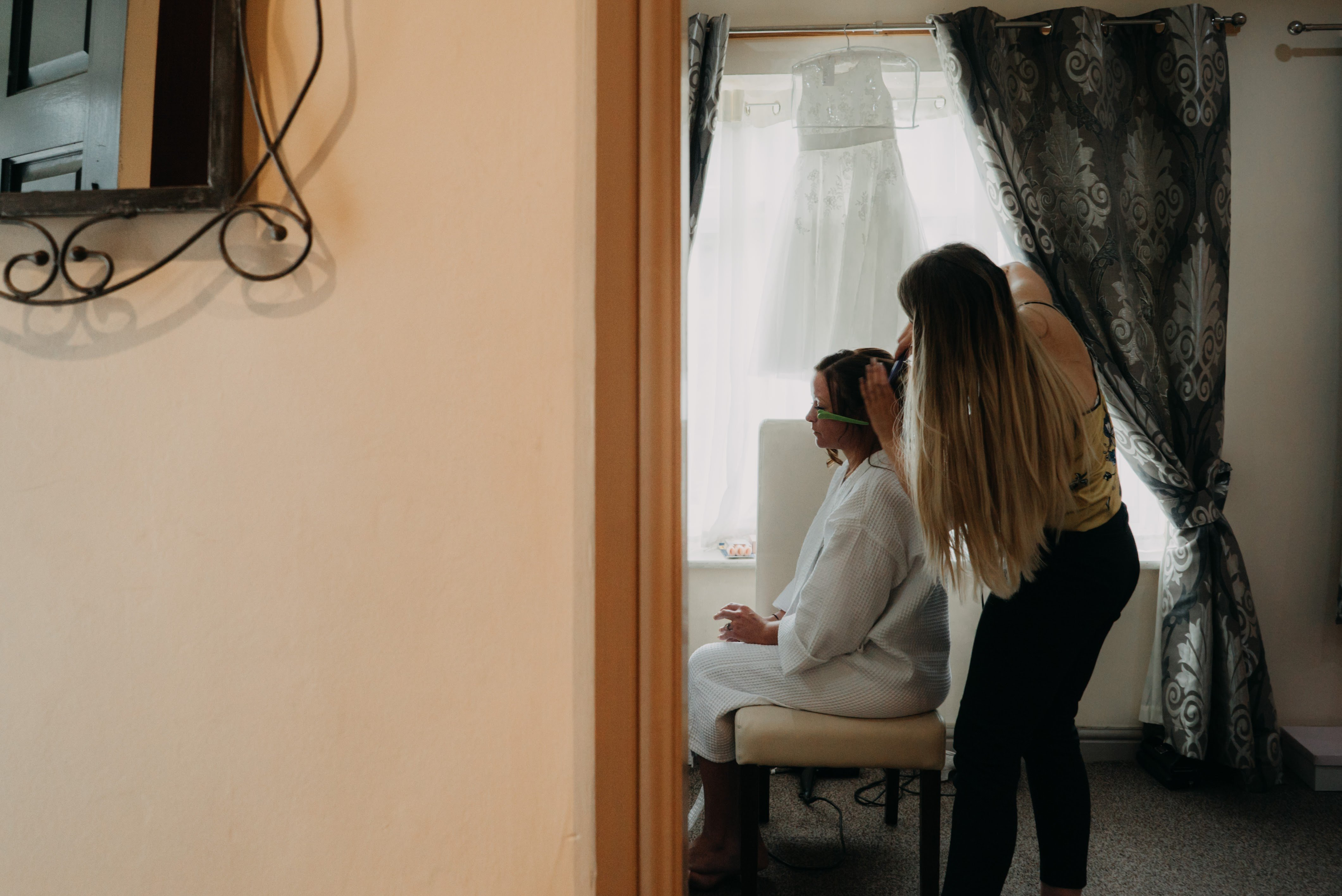 bridal preparations in the cottage at Dimple Well