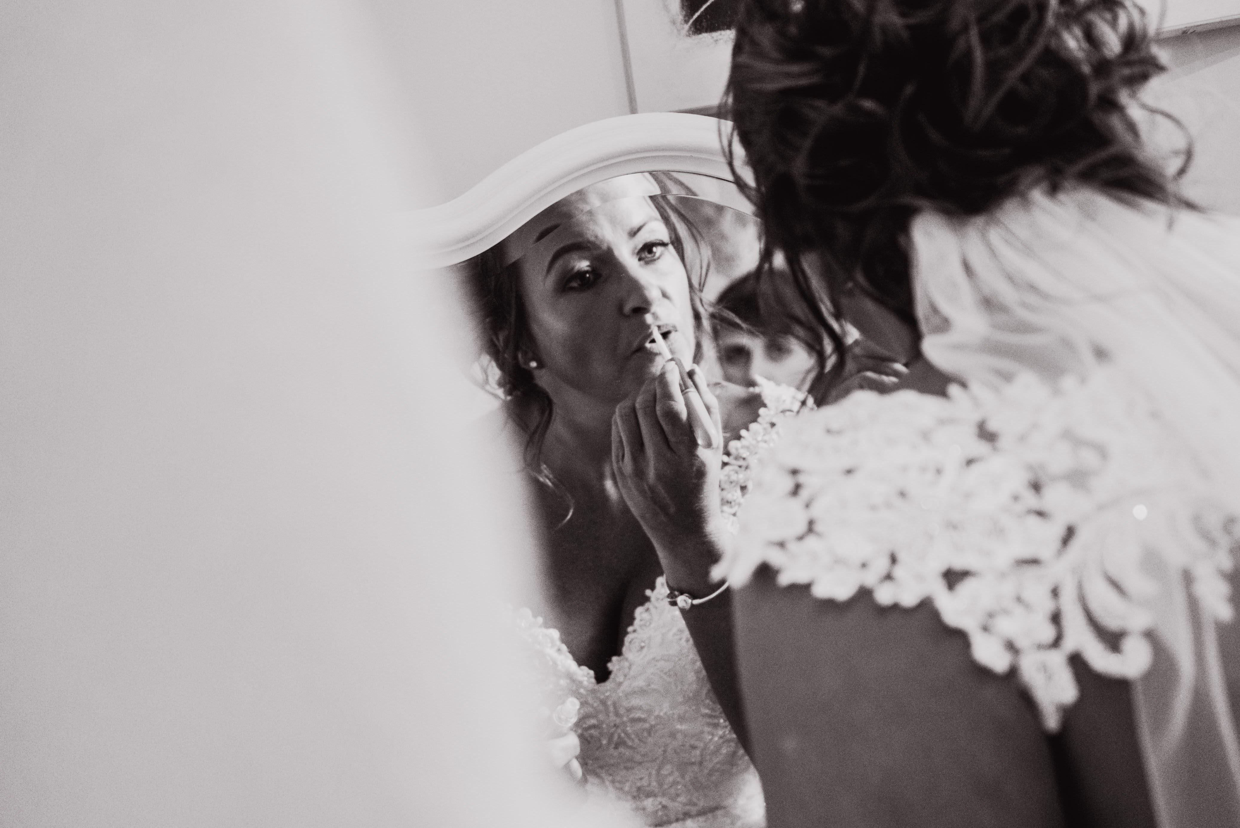 Bridal makeup mirror