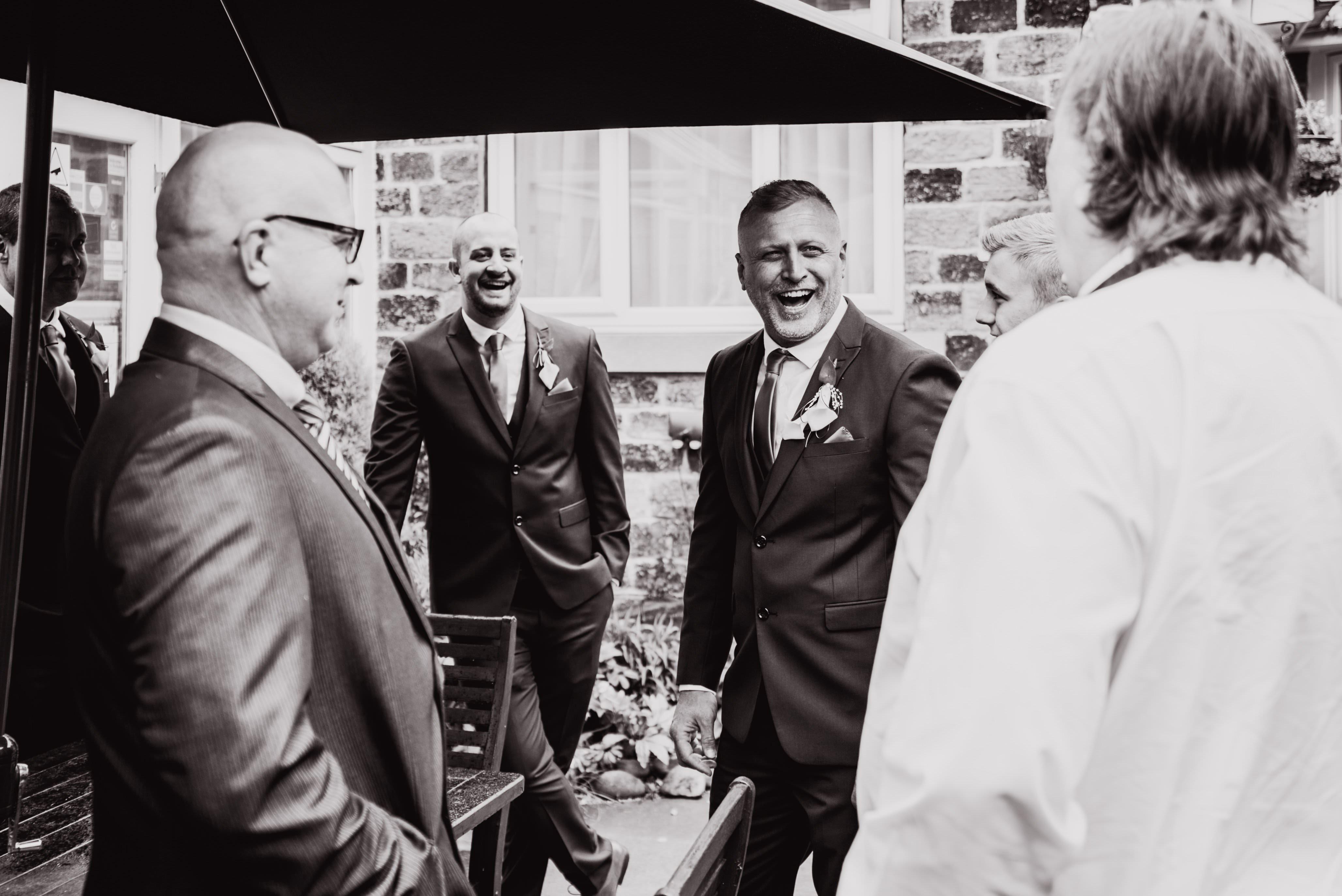groom prewedding nerves