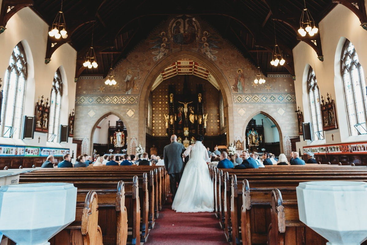 Walking down the Aisle at St Johns