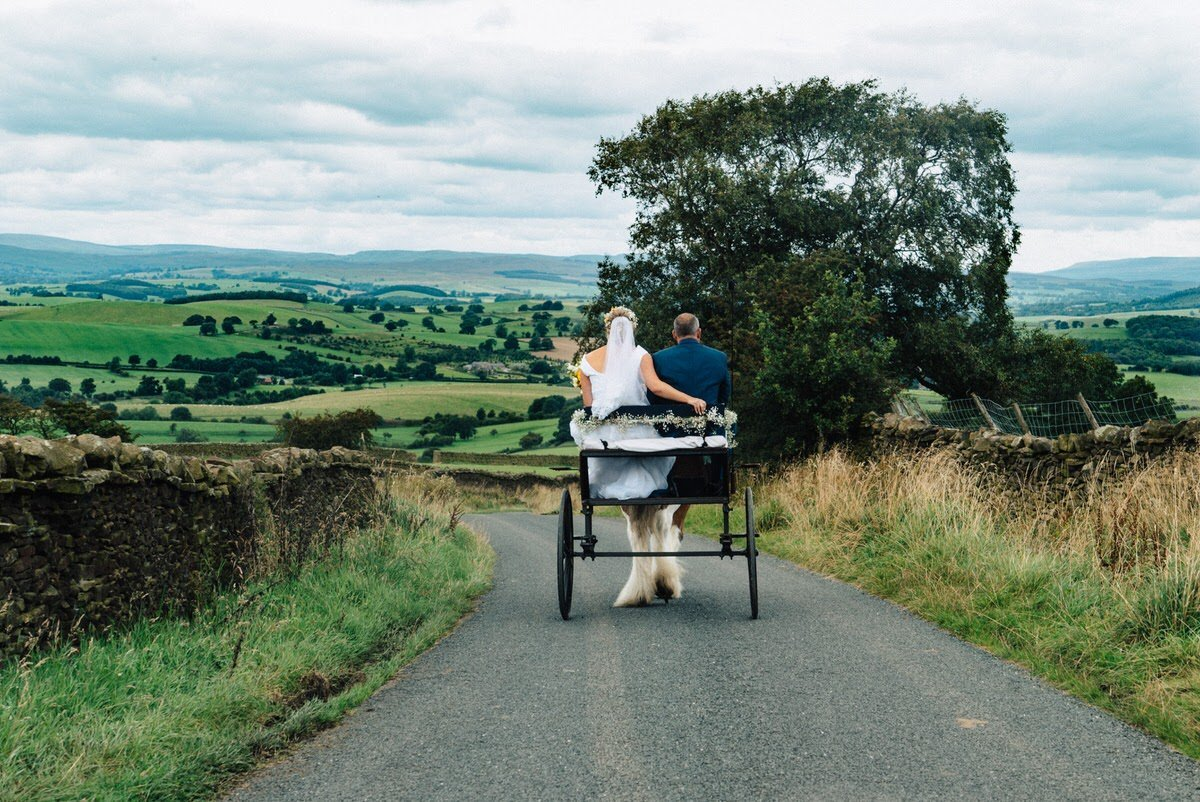 Horse Drawn Cart Skipton Wedding
