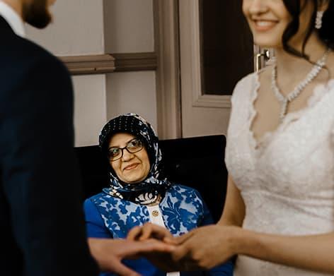 Brides Mother Watching Bride Get Married