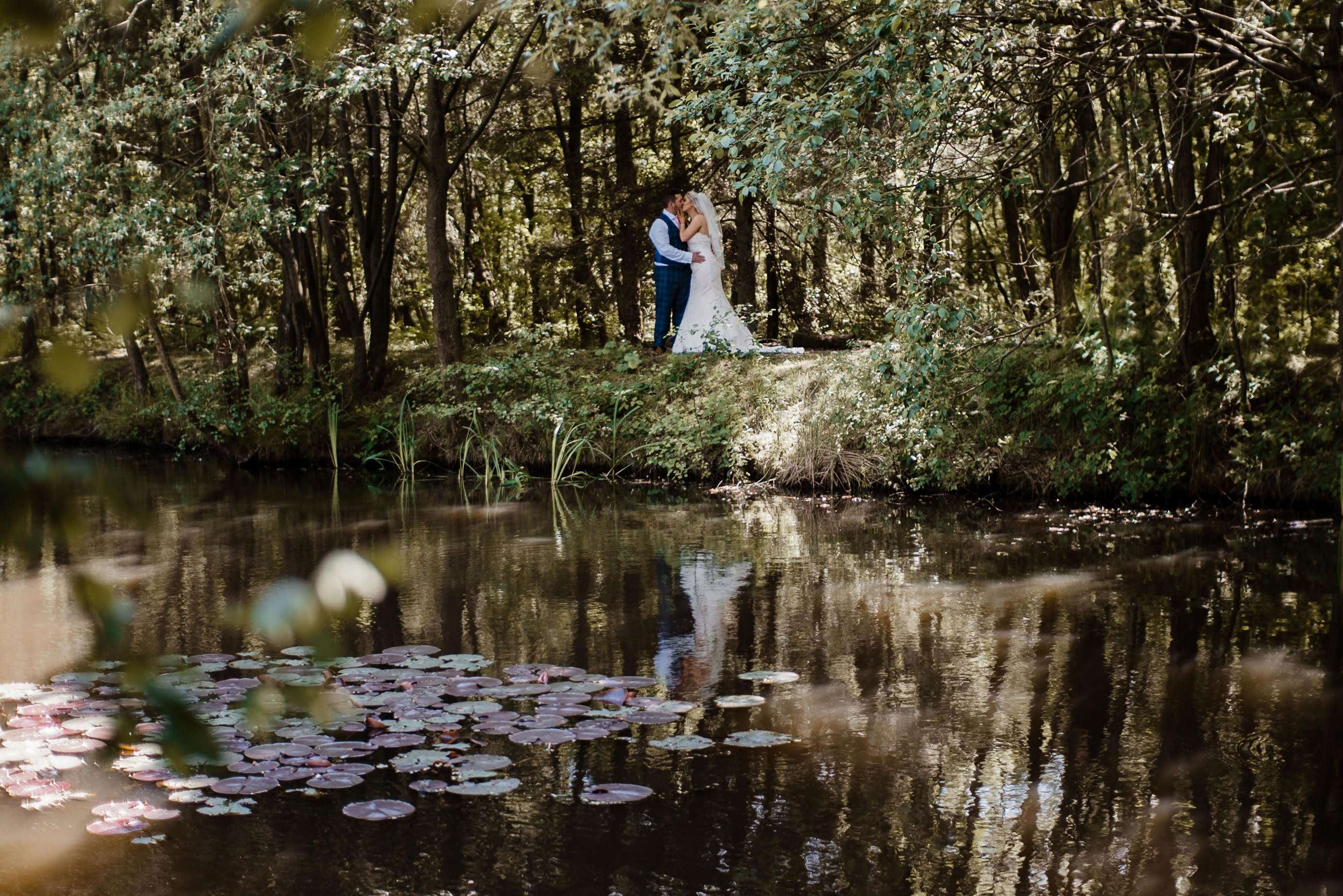 Chevin Country Park Wedding next to lake