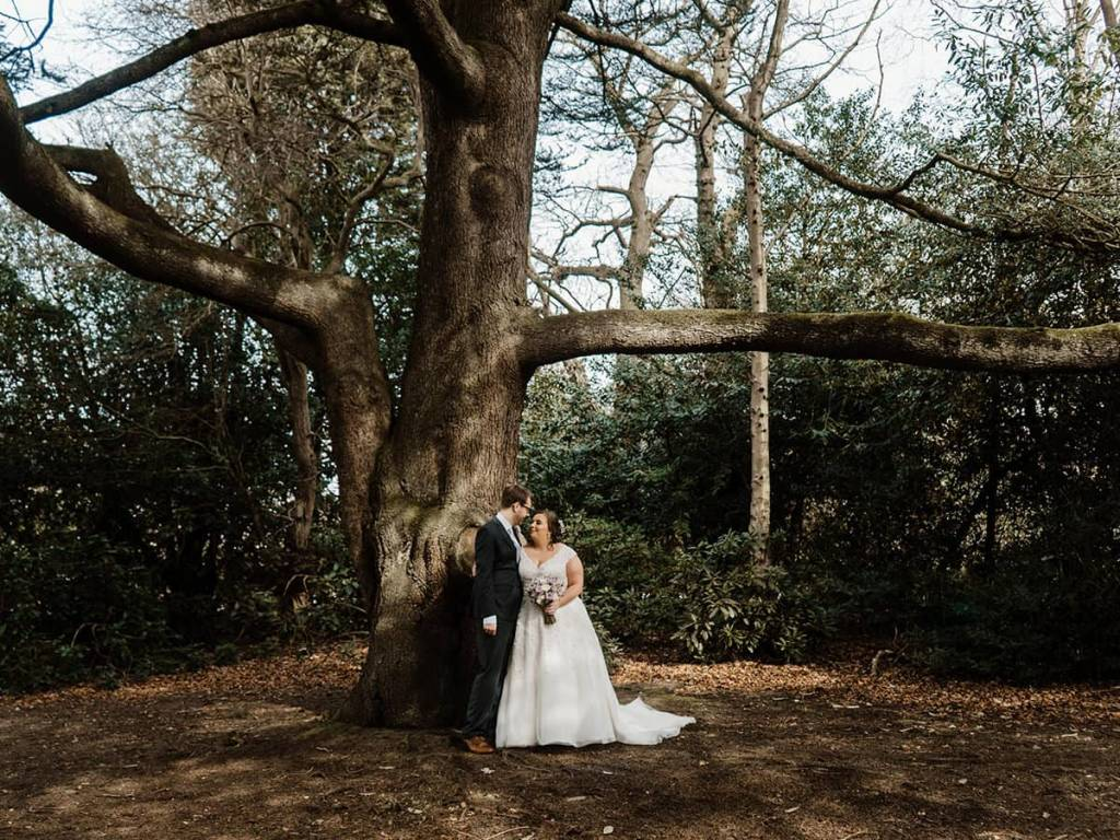 Groom and Bride Weetwood Manor