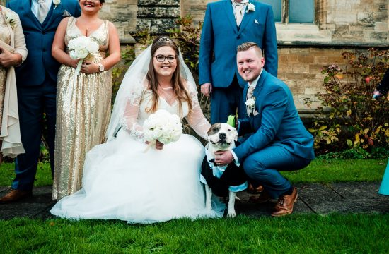 Wedding Photos with their dog
