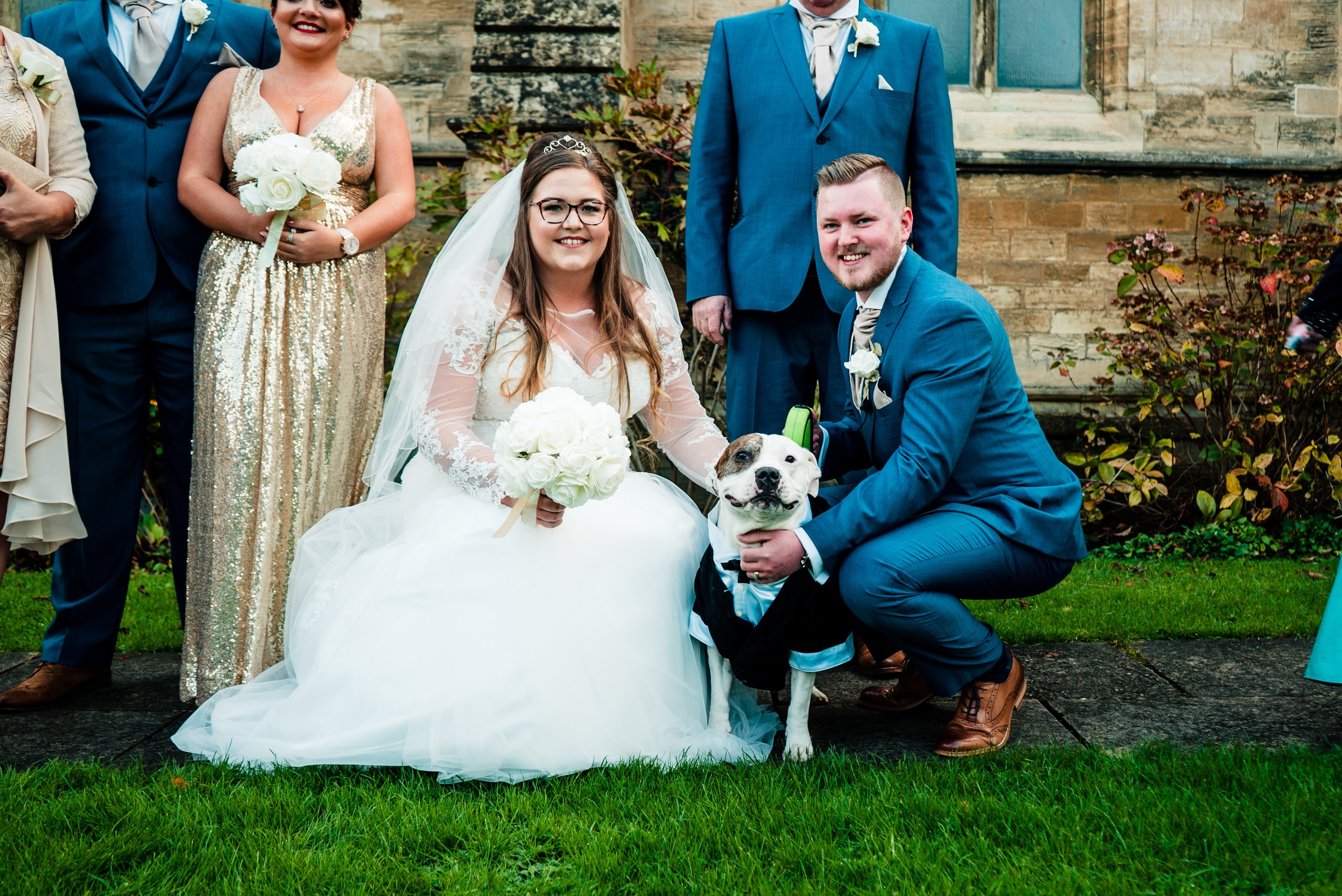 Wedding Photos with their dog