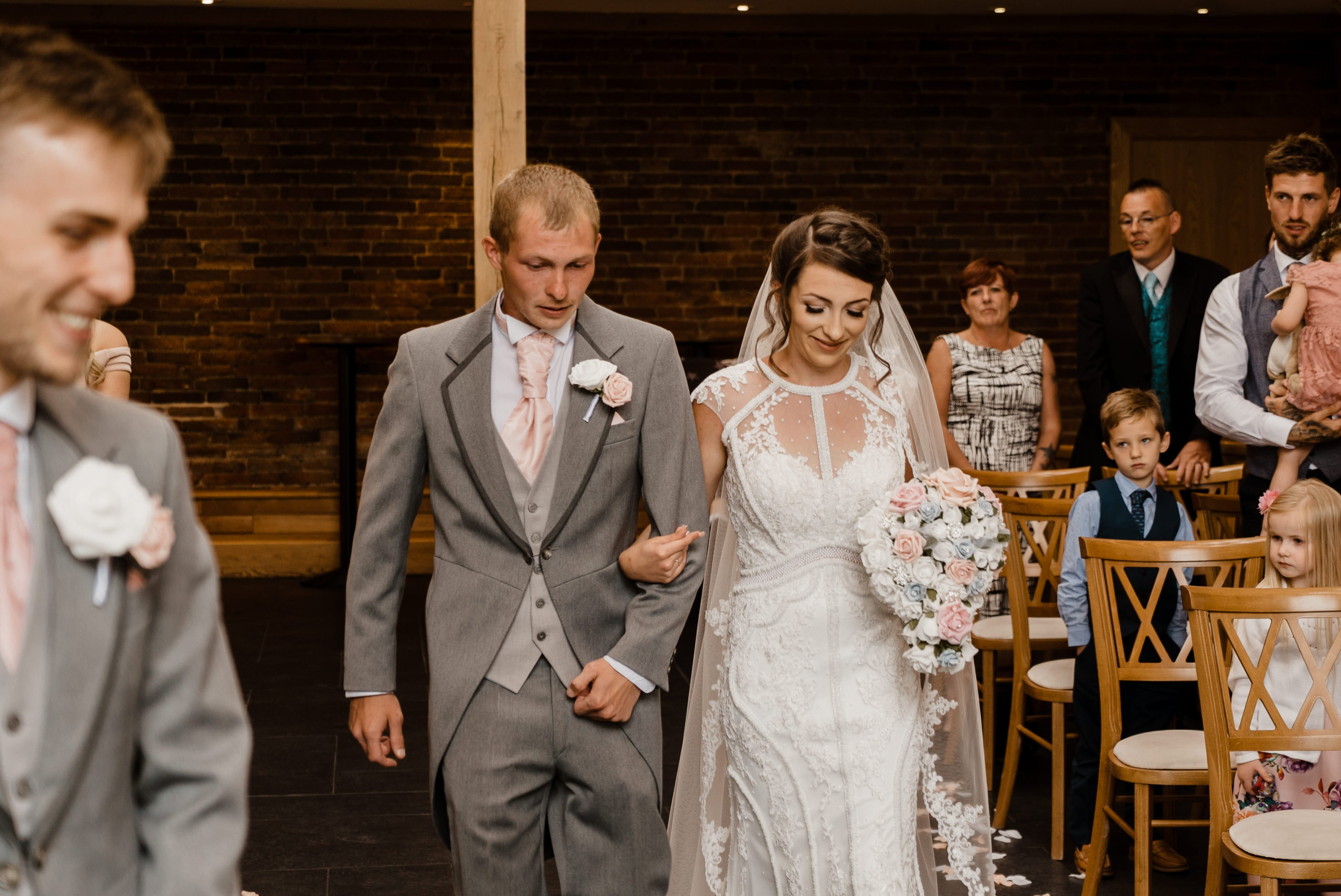 Sneak Peek - Sheryl & Sam Mythe Barn Wedding Ceremony 10