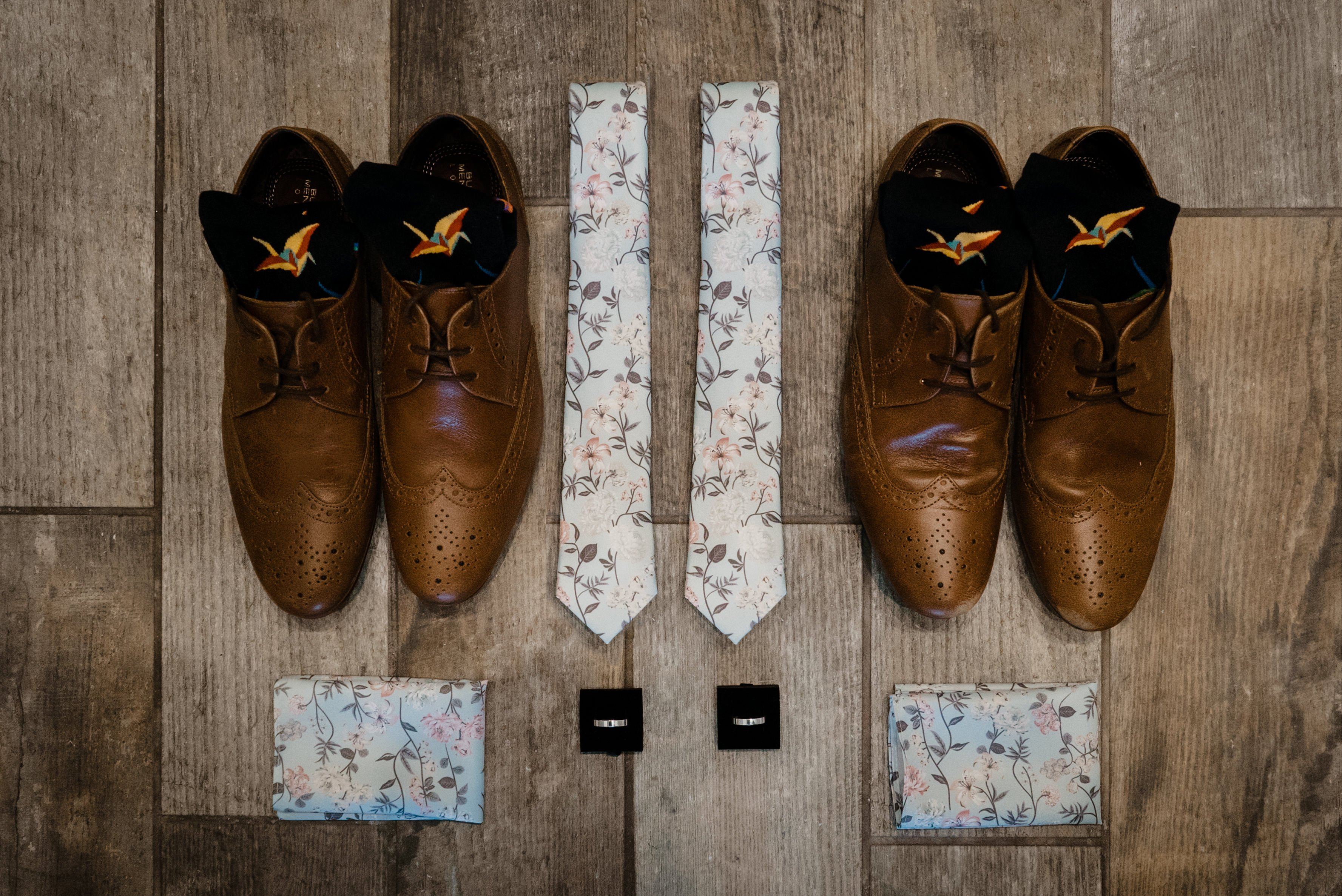 Groom and Groom Wedding Flat Lay
